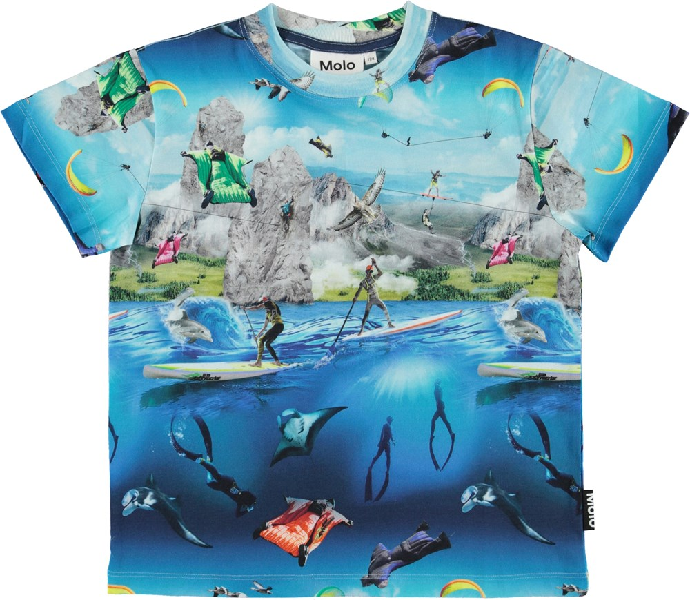 Roxo - Go Extreme - Organic t-shirt with extreme sport print