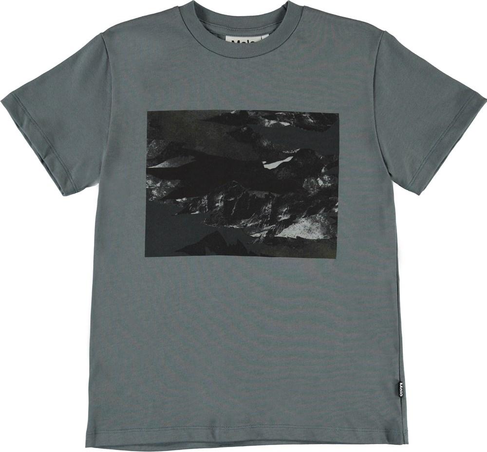Roxo - Mountain Camo - Grey organic camouflage t-shirt