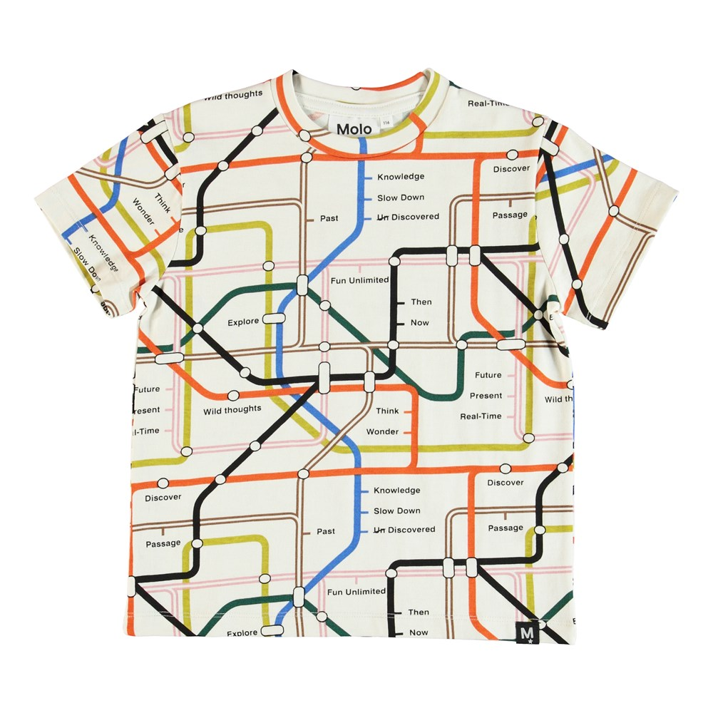 Roxo - Subway Map - T-shirt with map print.