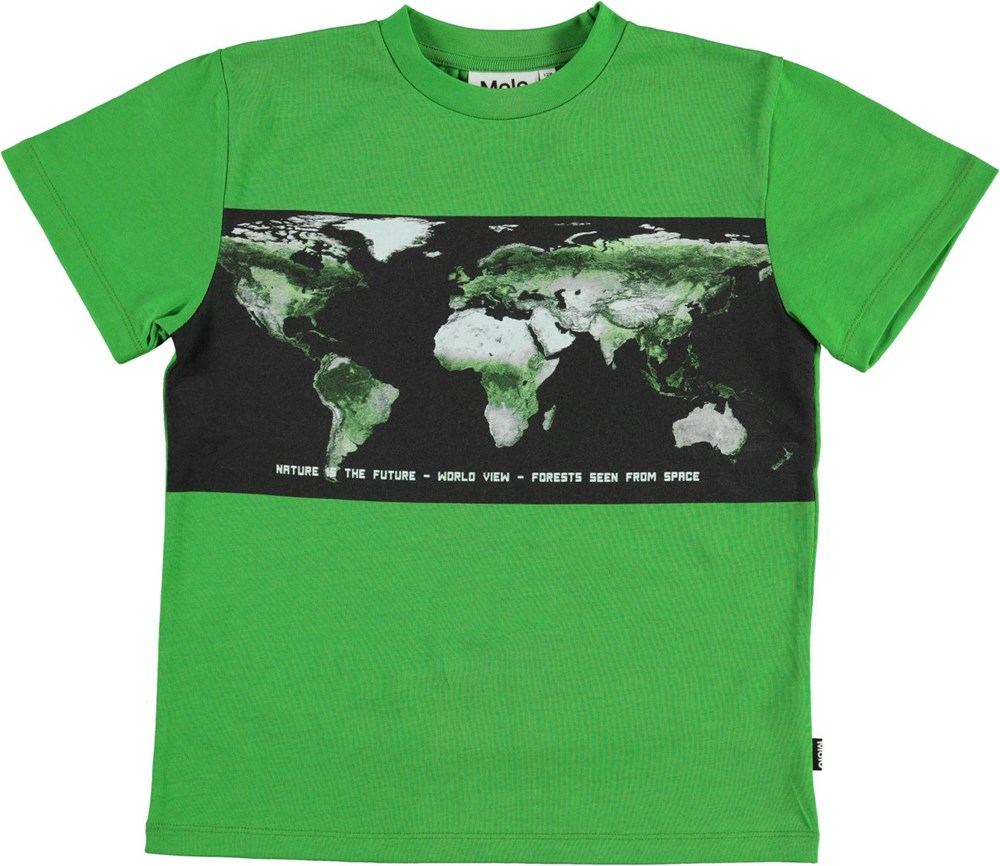 Roxo - Succulent - Green t-shirt with map print