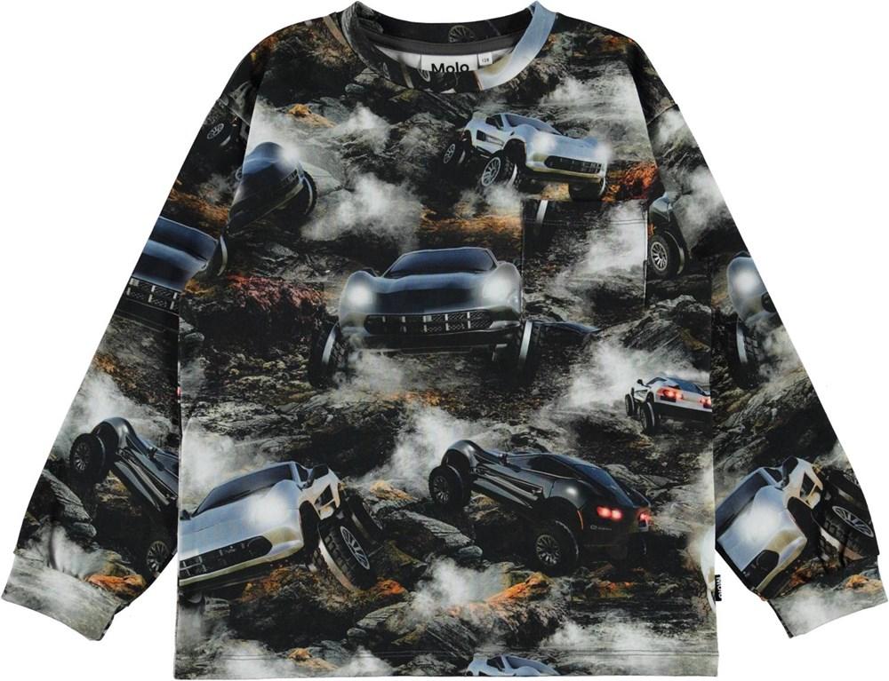 Ruben - Terrain Goers - Organic top with car print
