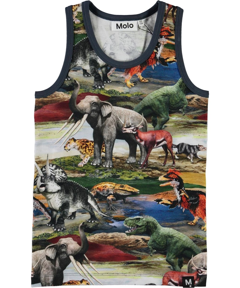Jim - Ancient World - Organic vest with prehistoric animals