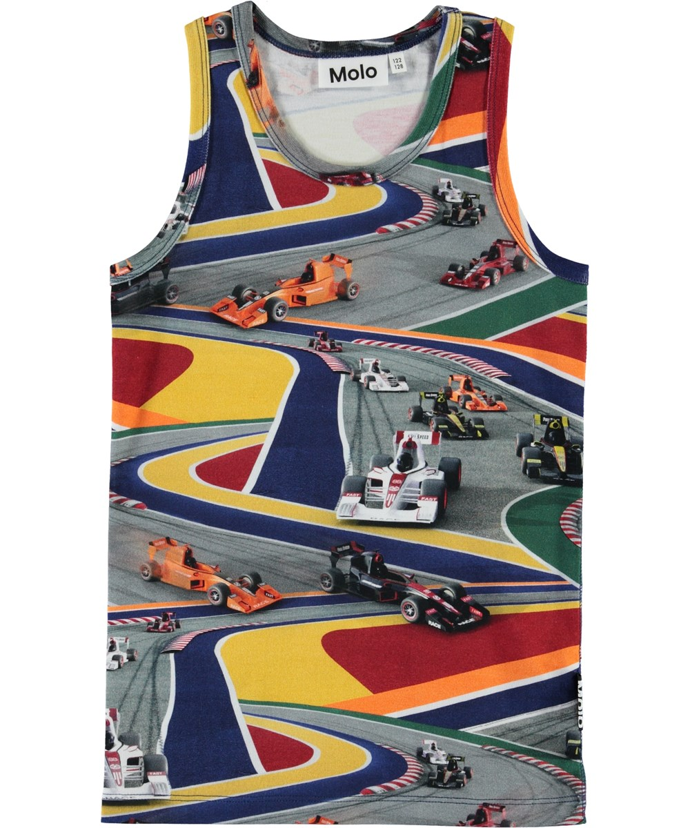 Jim - Full Speed - Organic vest with race cars