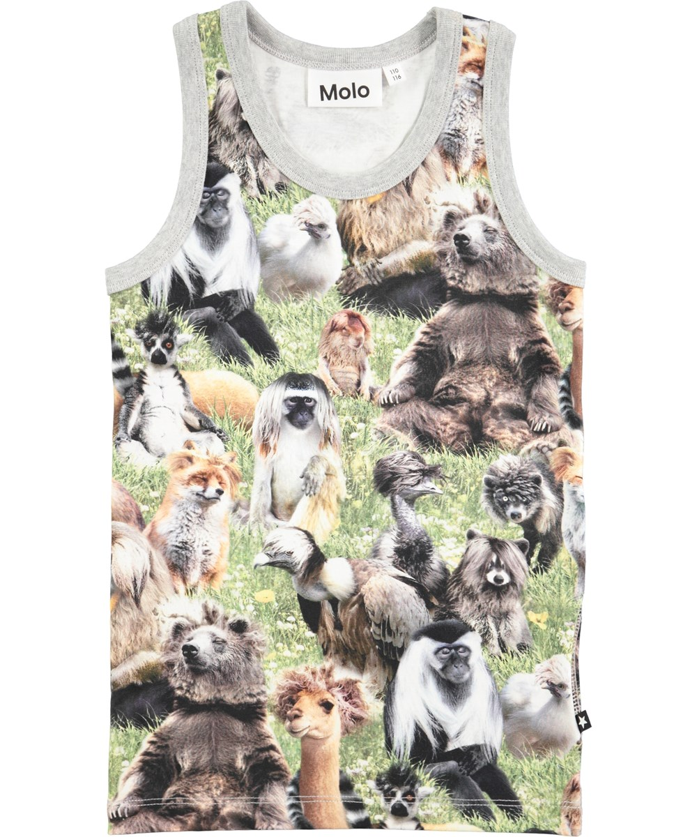 Jim - Hairy Animals - Vest with digital wild animal print