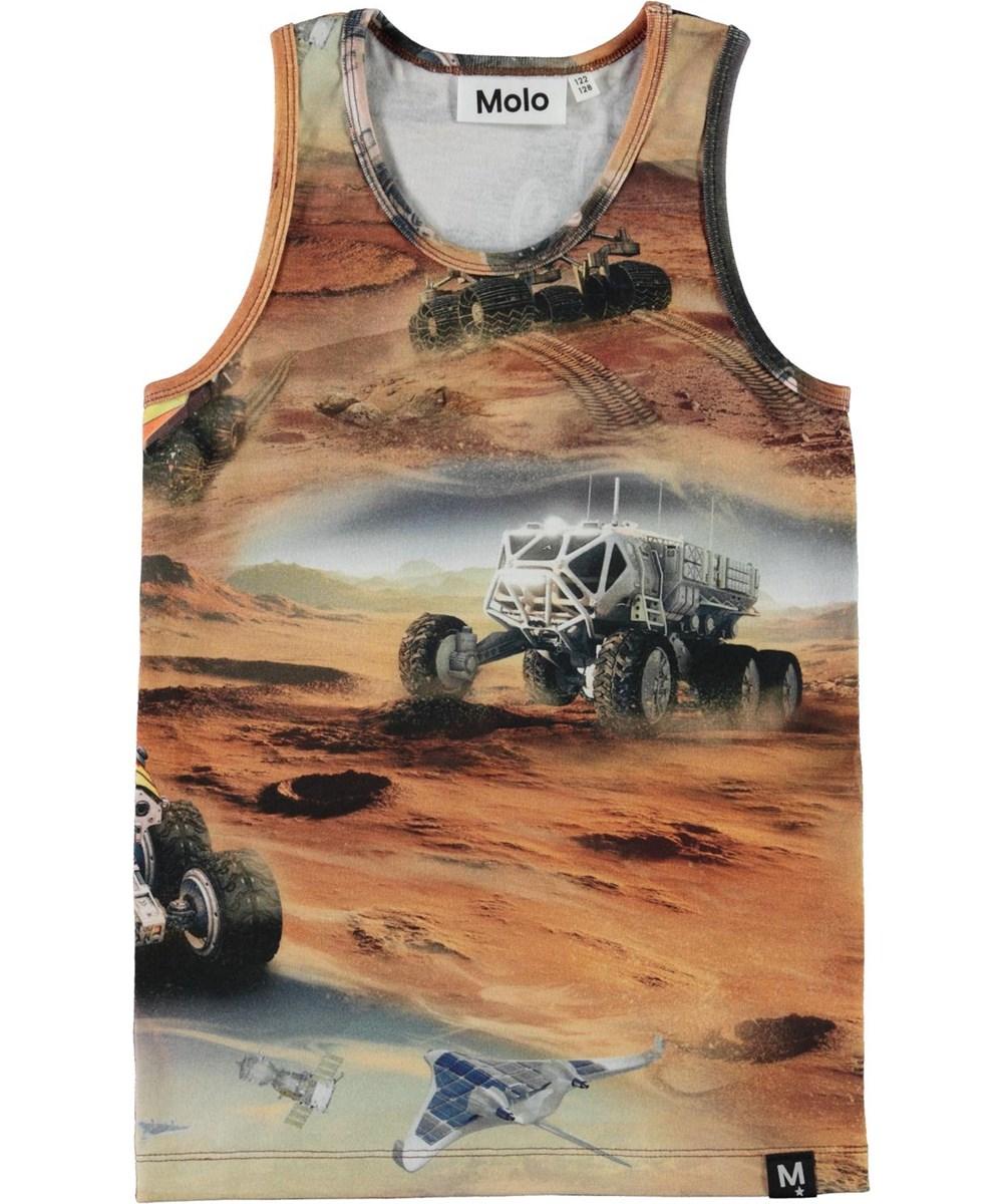 Jim - Mars - Organic vest with Mars print