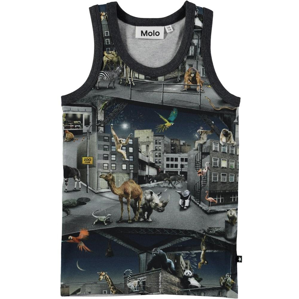 Jim - Zoo Rebellion - Vest with digital zoo print and stars