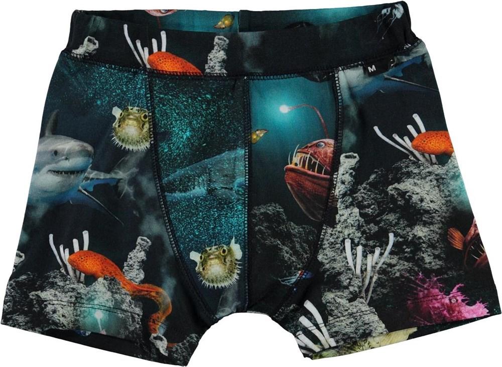Jon - Deep Sea - Organic boxershorts with ocean print