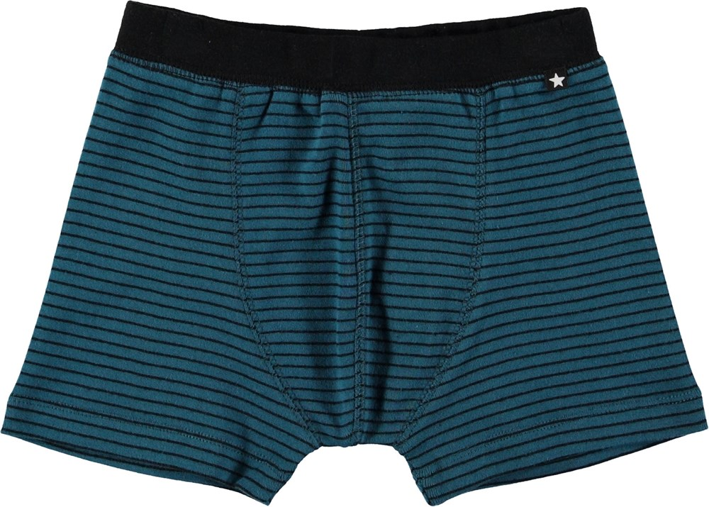 Jon - Frozen Deep Stripe - Boxer shorts with stripes.