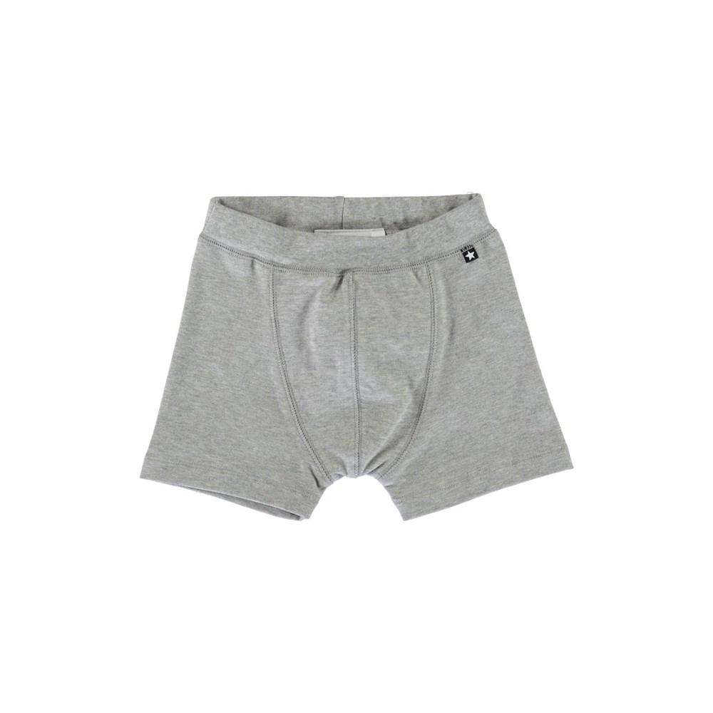 Jon - Grey Melange - Grey boxershorts.