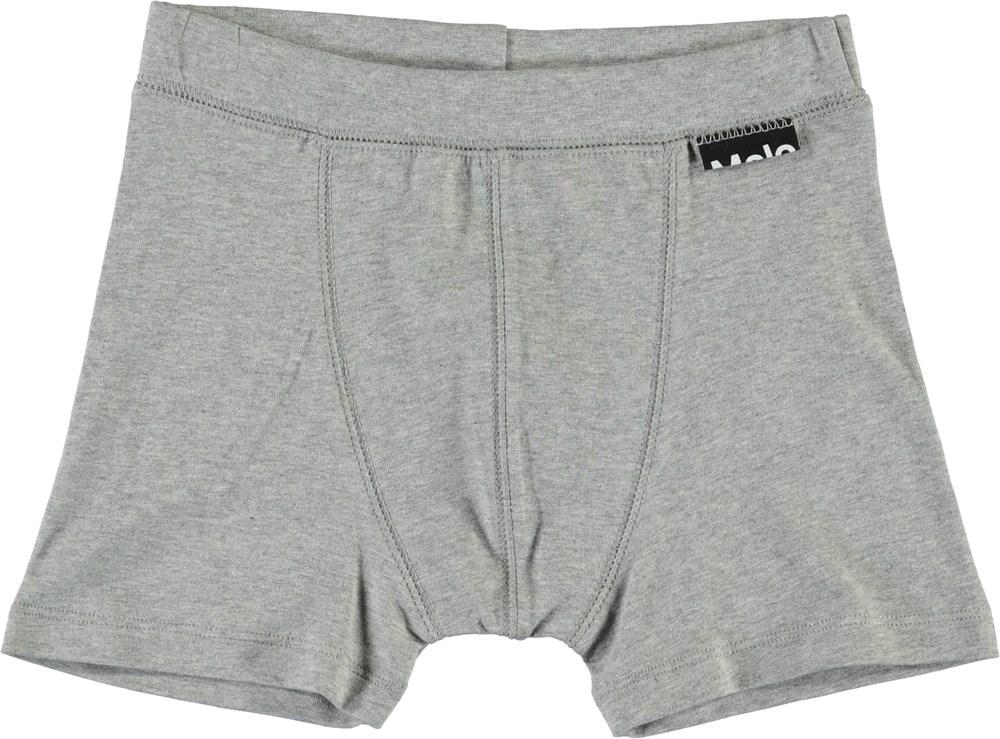 Jon - Grey Melange - Grey organic boxershorts