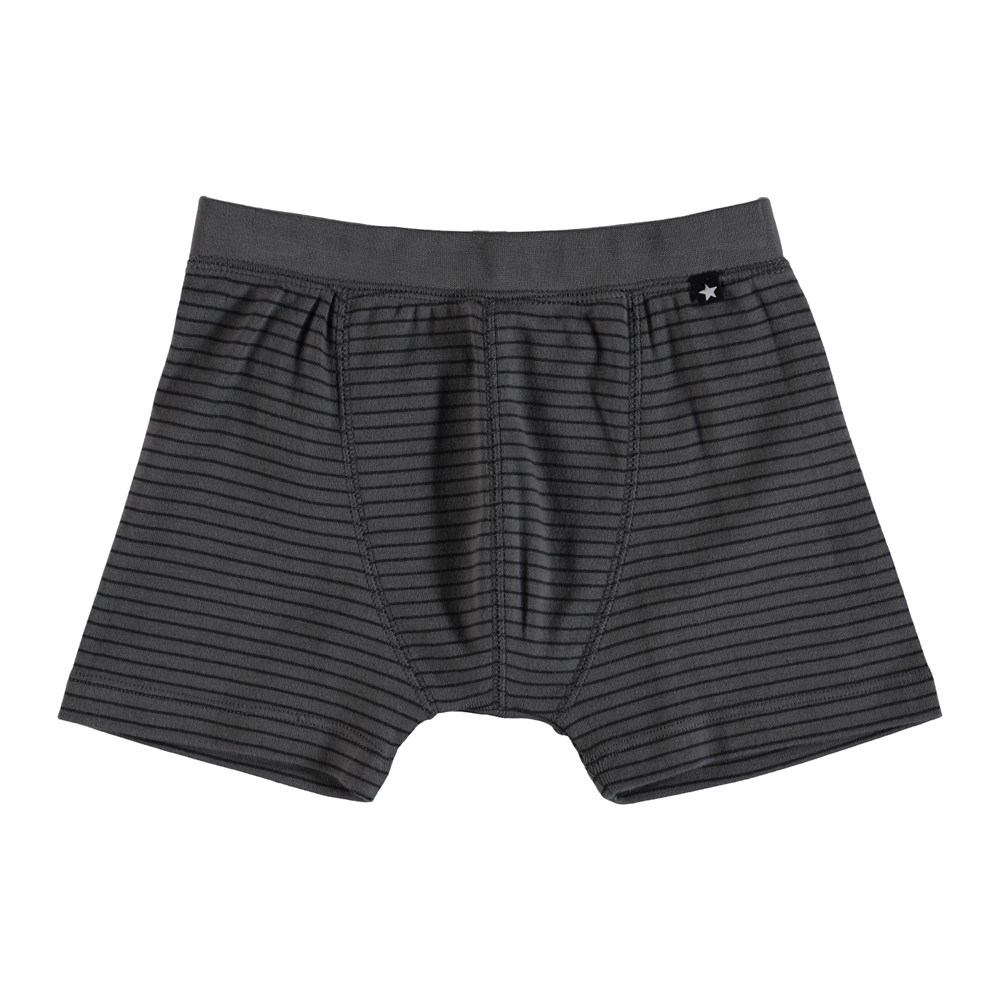 Jon - Pewter Stripe - Striped boxershorts.