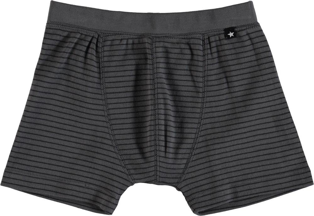 Jon - Pewter Stripe - Striped boxershorts.