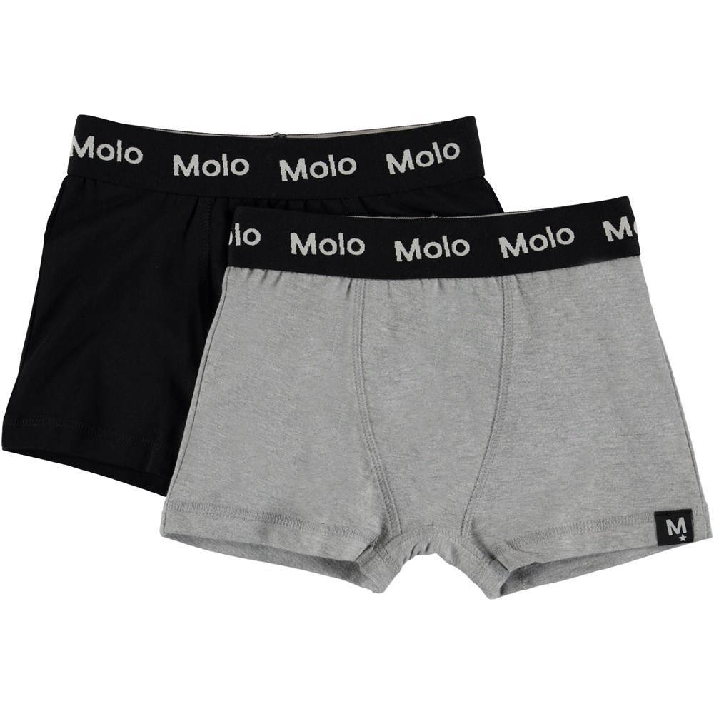 Justin 2-pack - Black - Pack with 2 pairs of boxershorts.