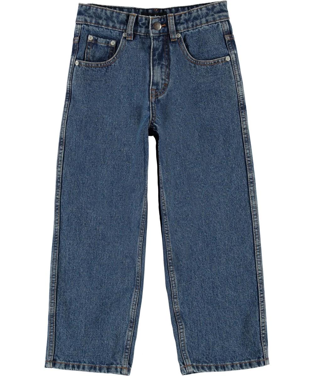 Aiden - Stone Blue - Brede blå skate jeans