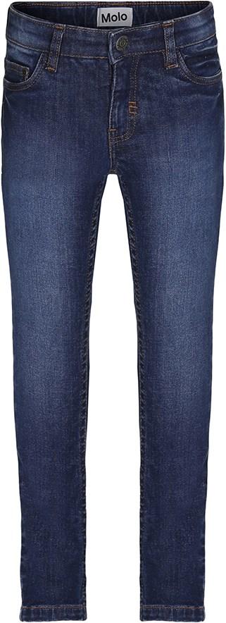 Aksel - Dark Indigo - Blå slim fit denim jeans med slid