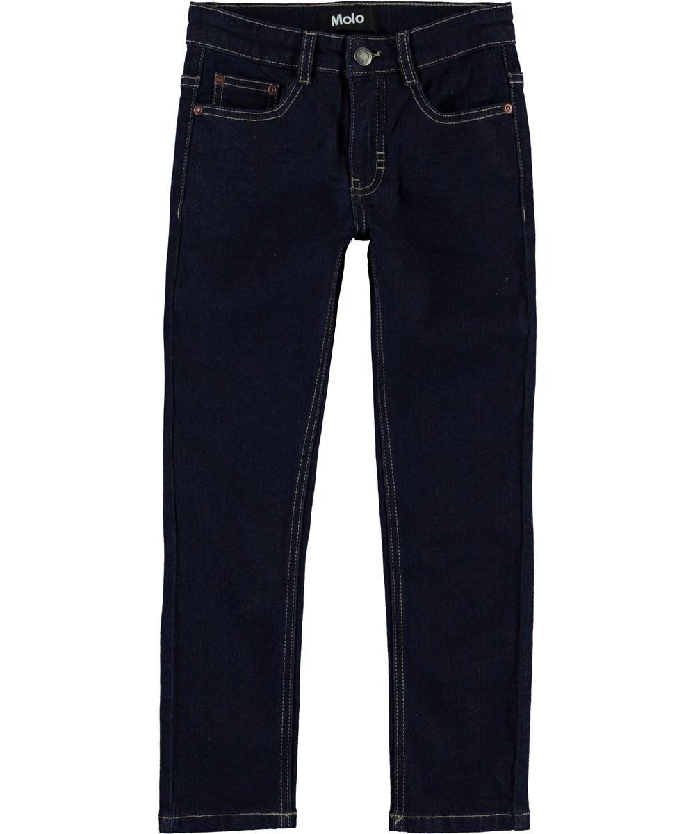 Aksel - Rinse Wash - Mørke blå slim jeans