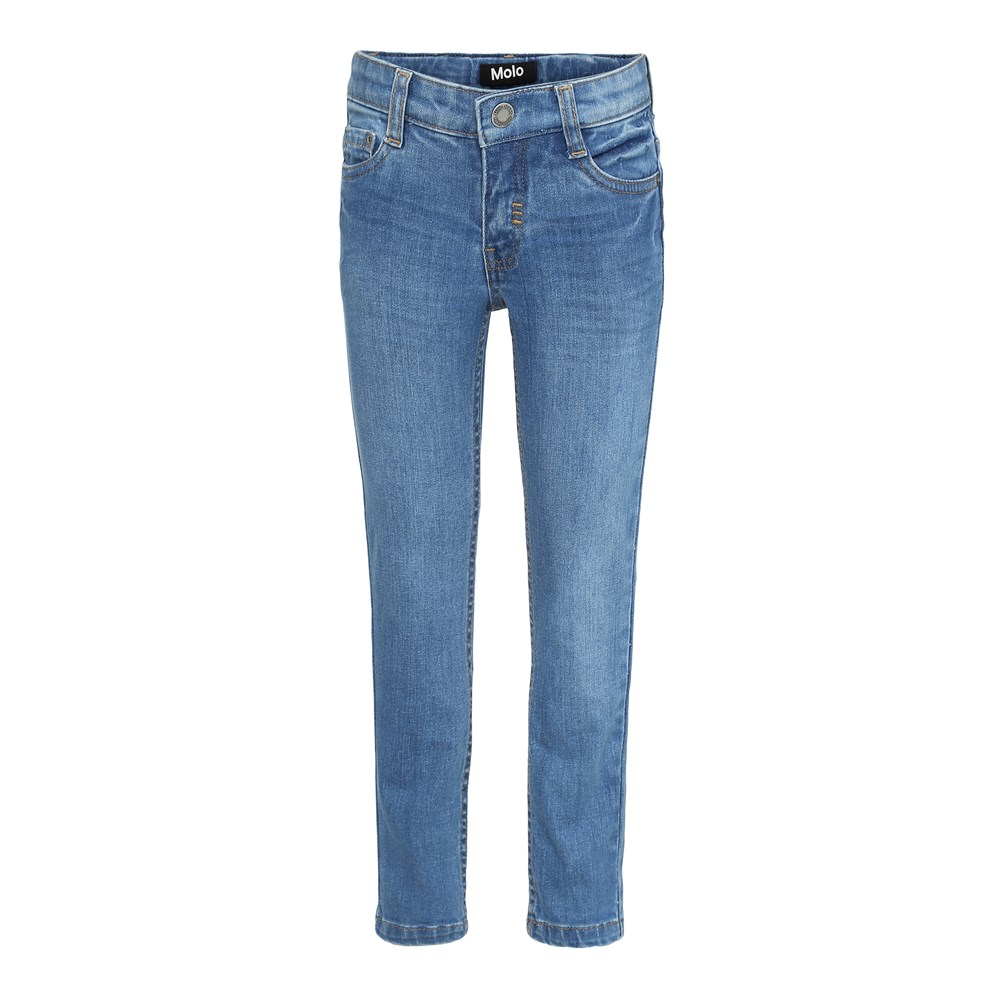 Aksel - Stone Blue - Blå slim denim jeans.