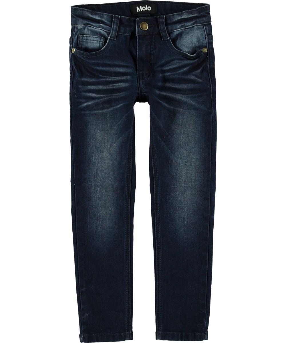Aksel - Dark Indigo - Mørkeblå slim fit jeans.