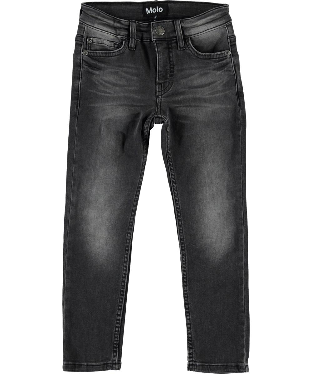 Aksel - Washed Black - Slim fit grå denim jeans.