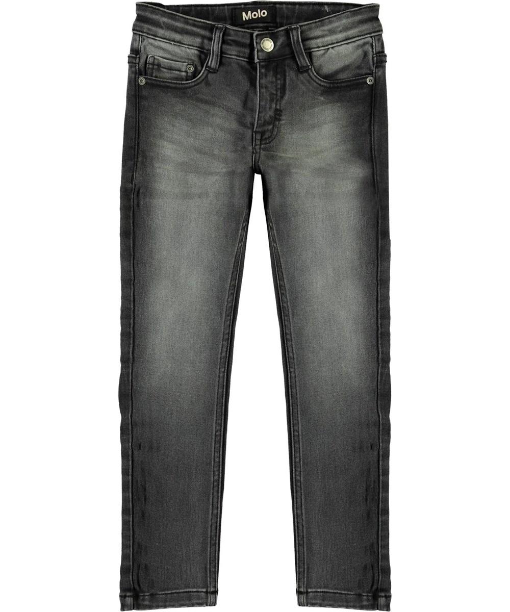 Aksel - Washed Black - Sort grå slim fit jeans