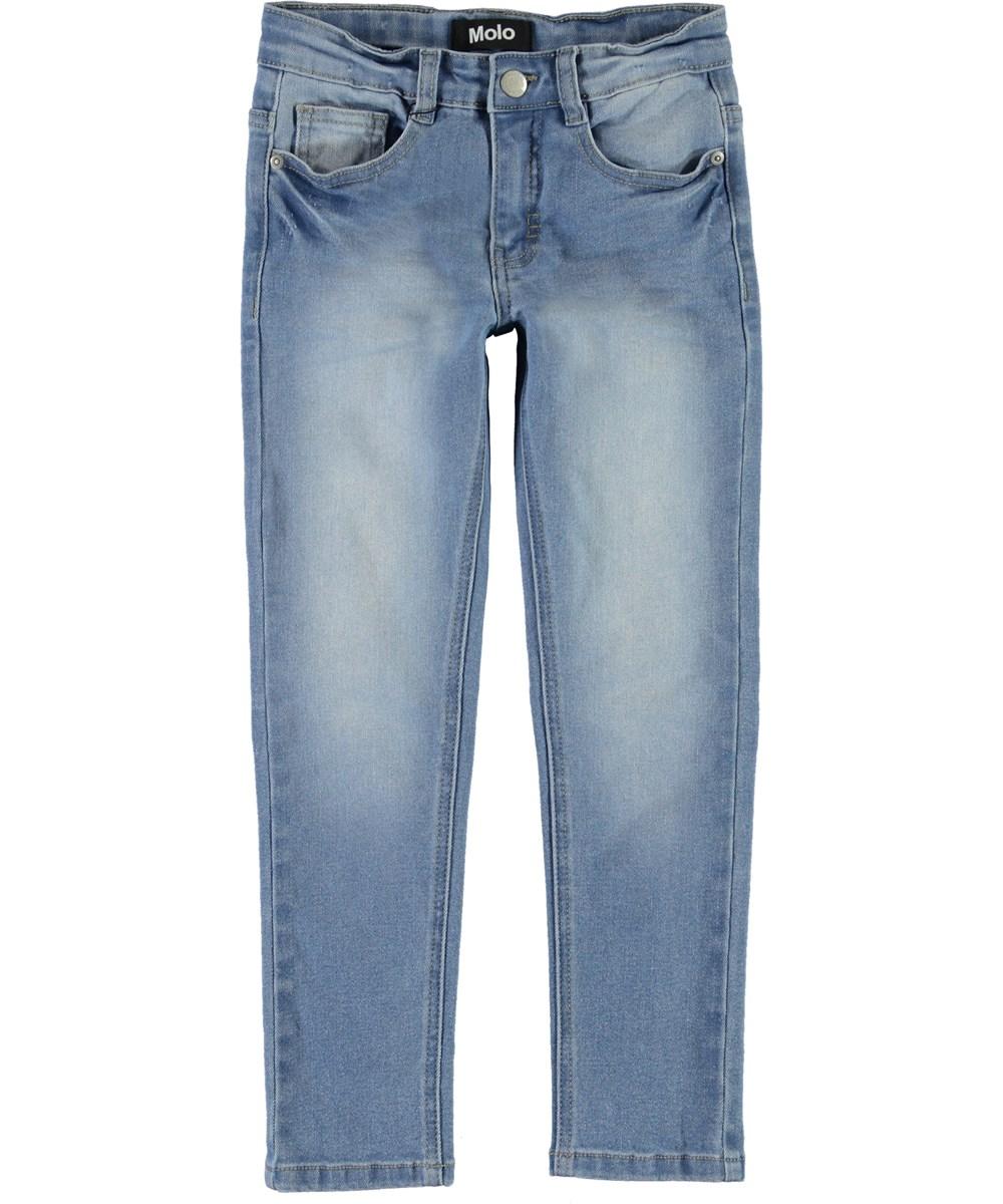 Aksel - Worn Denim - Lyse blå jeans