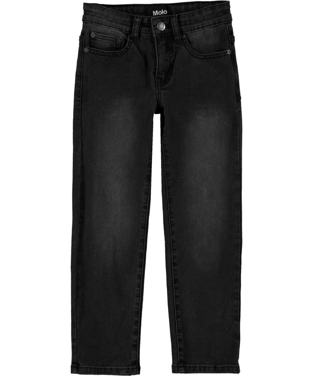 Alon - Washed Black - Sorte jeans med et regulært fit