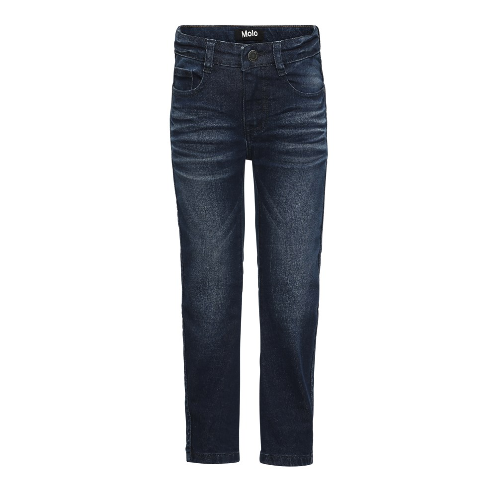 Alonso - Dark Indigo - Mørkeblå forvaskede denim jeans.