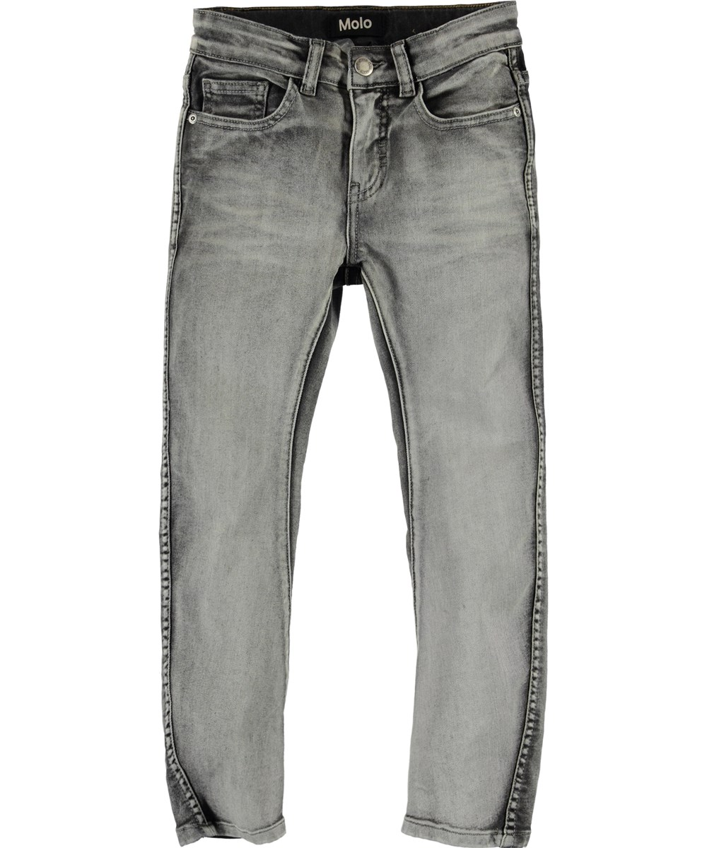 Alonso - Grey Washed Denim - Grå denim jeans