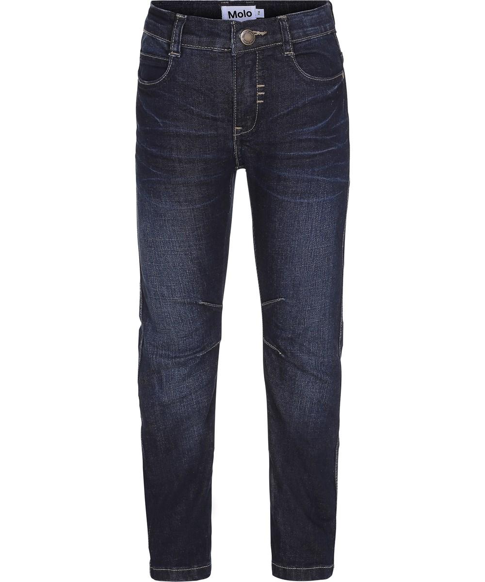 Alonso - Vintage Denim - Mørkeblå denim jeans i biker look