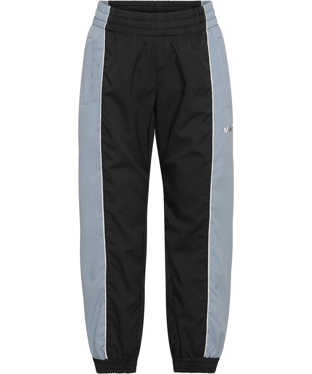 Alyxo - Aero - Sorte track bukser med lyseblå sider
