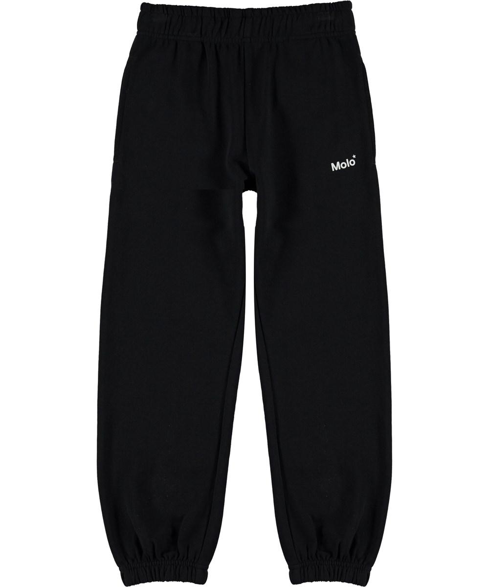 Am - Black - Økologiske sorte sweatpants