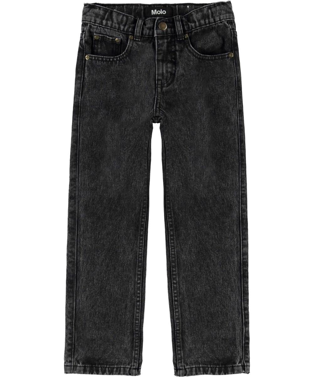 Andy - Washed Black - Sorte jeans med løs psform