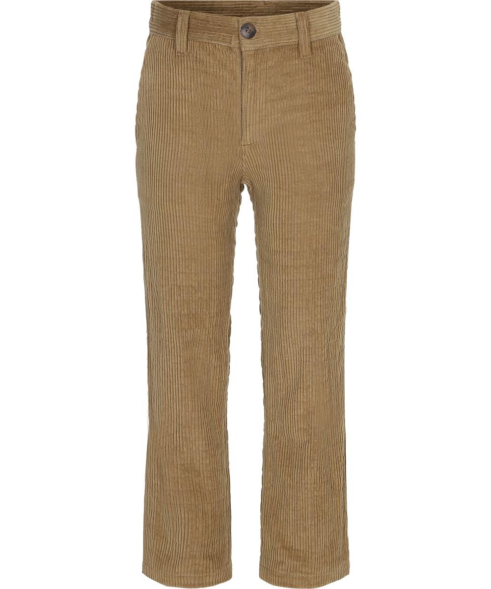 Antro - Khaki - Bløde fløjlsbukser i khaki