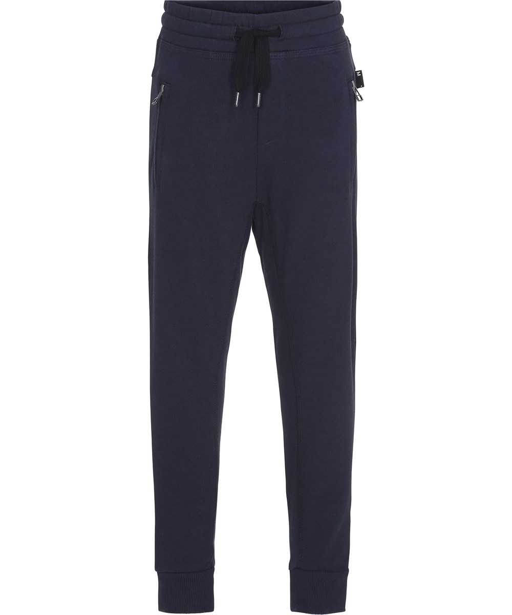 Ash - Dark Navy - Mørkeblå sweatpants med bindebånd
