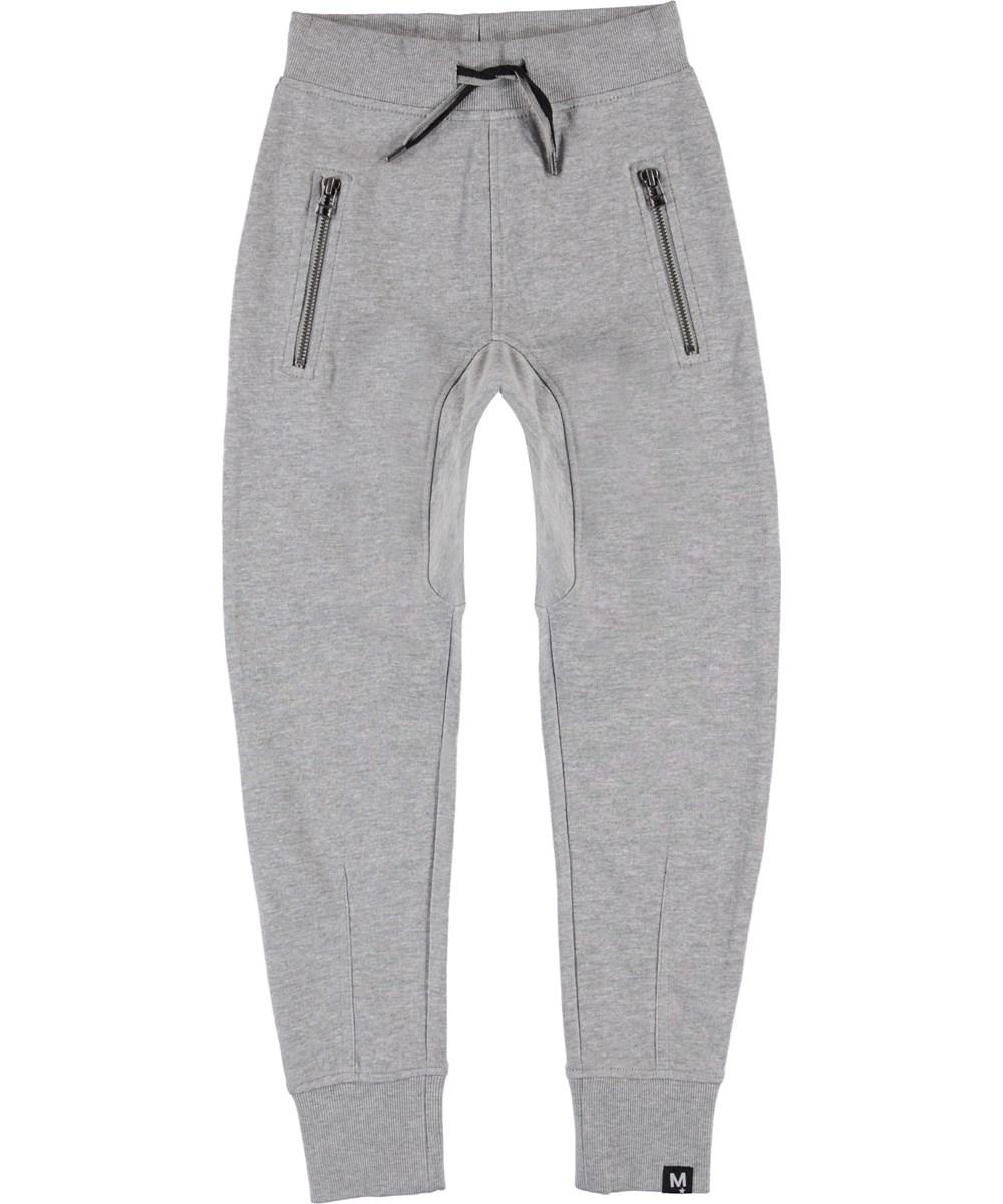 Ashton - Grey Melange - Grå sweat sporty bukser