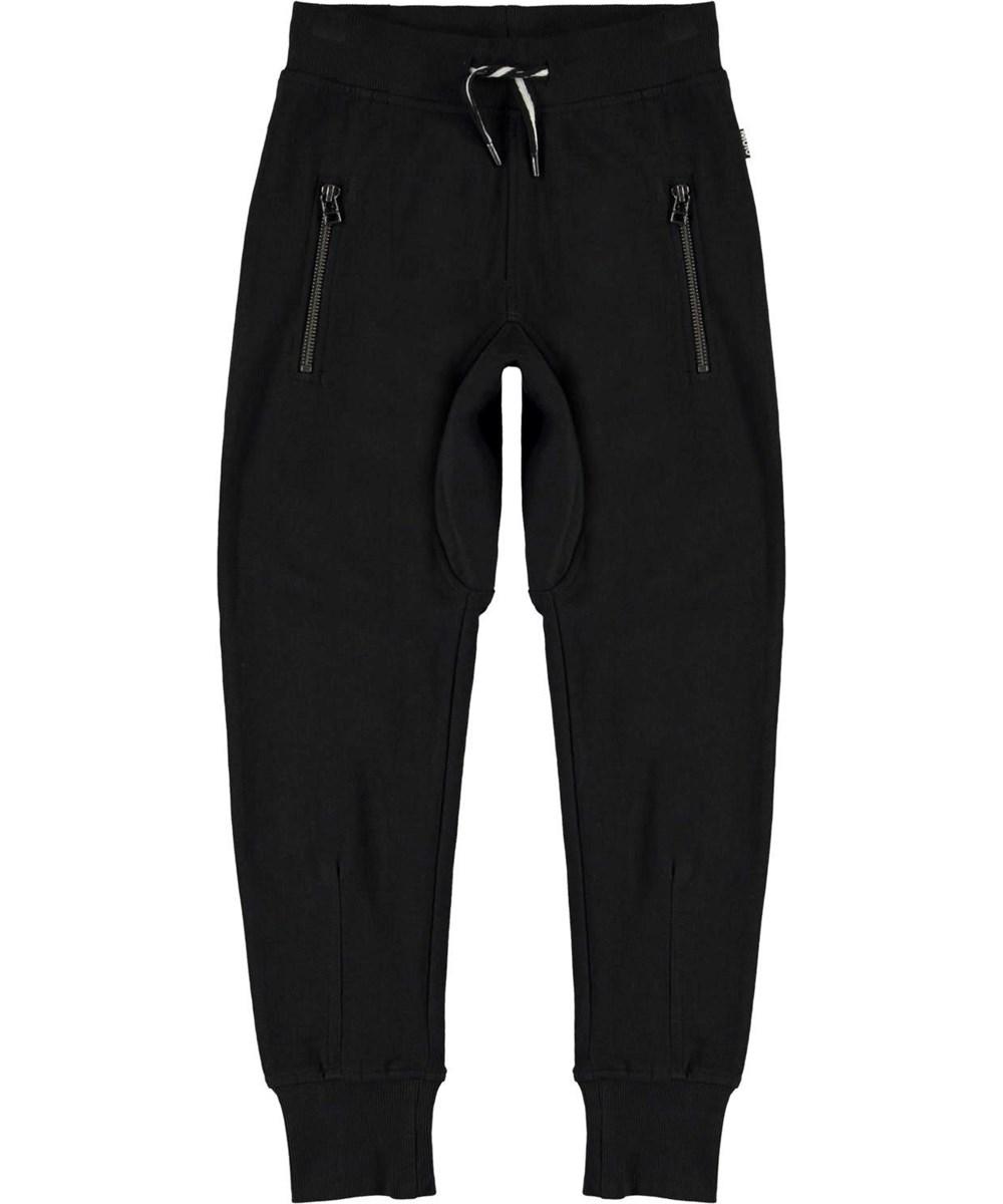 Ashton - Black - Økologiske sorte sweatpants