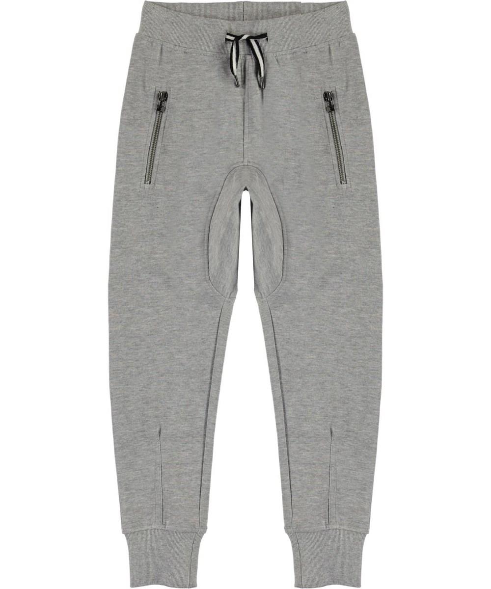 Ashton - Grey Melange - Grå sweatpants
