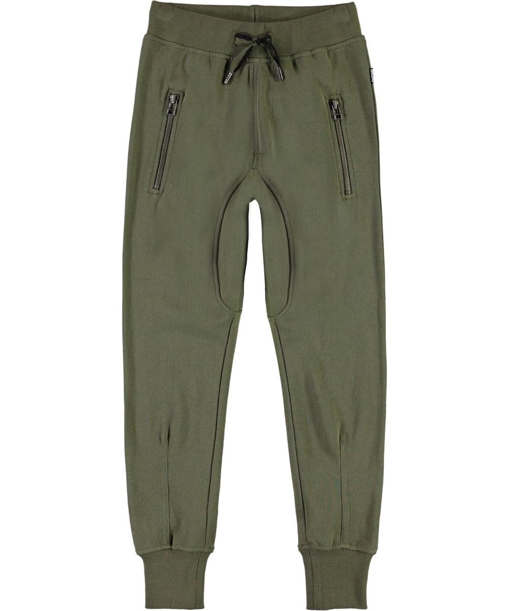 Ashton - Vegetation - Økologiske grønne sporty sweatbukser
