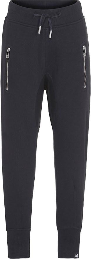 Ashton - Black - Sorte sweatpants med stribet bindebånd