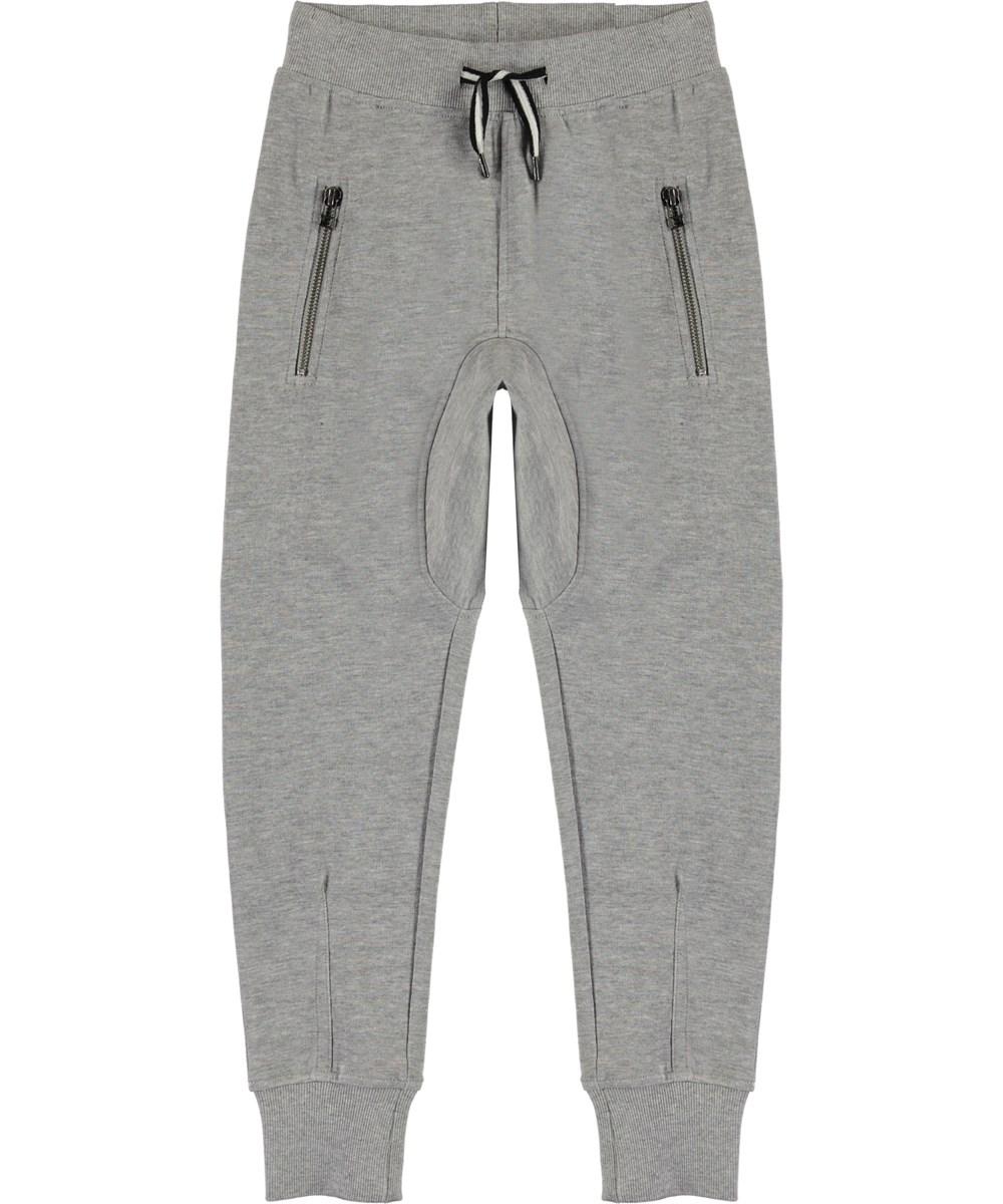 Ashton - Grey Melange - Grå behagelige sweatpants
