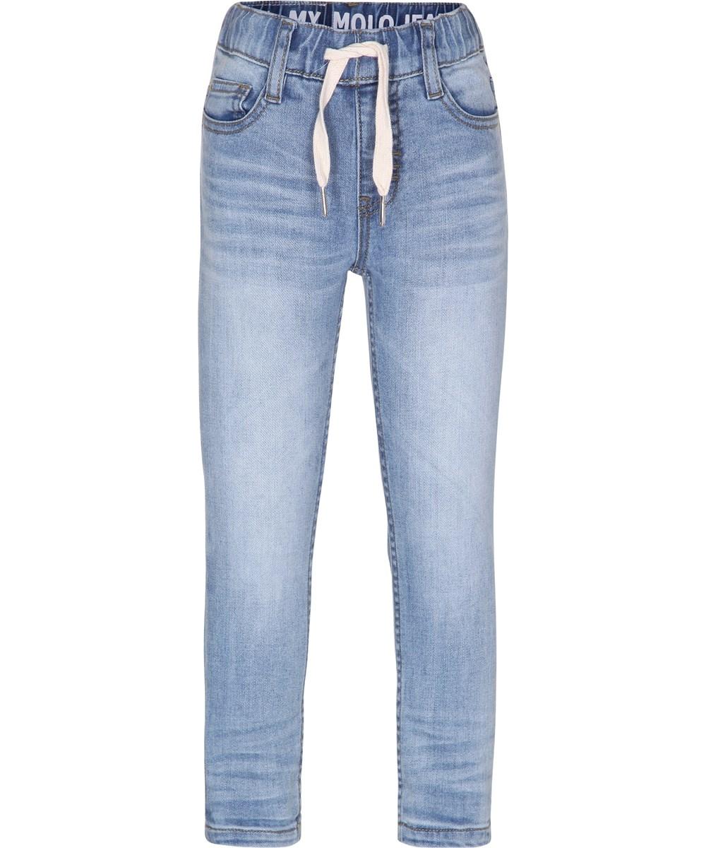4e10e942 Augustin - Vintage Denim - lyse jeans i sweat look med elastisk talje