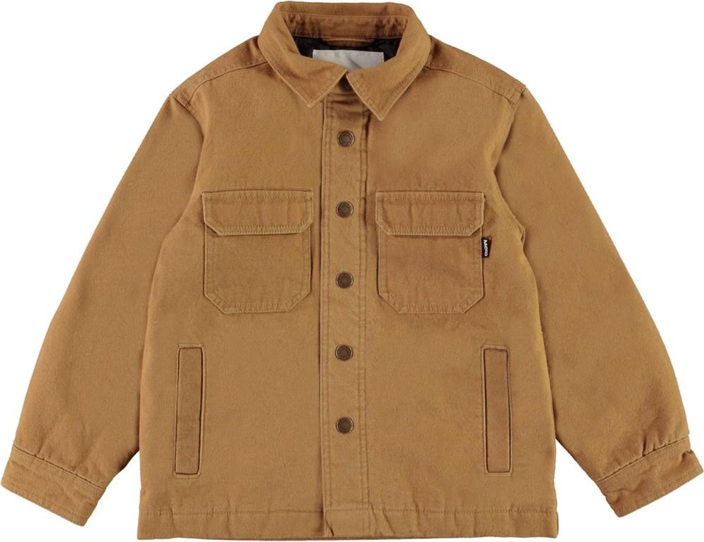 Henley - Sandstone - Sand farvet overshirt jakke med lommer