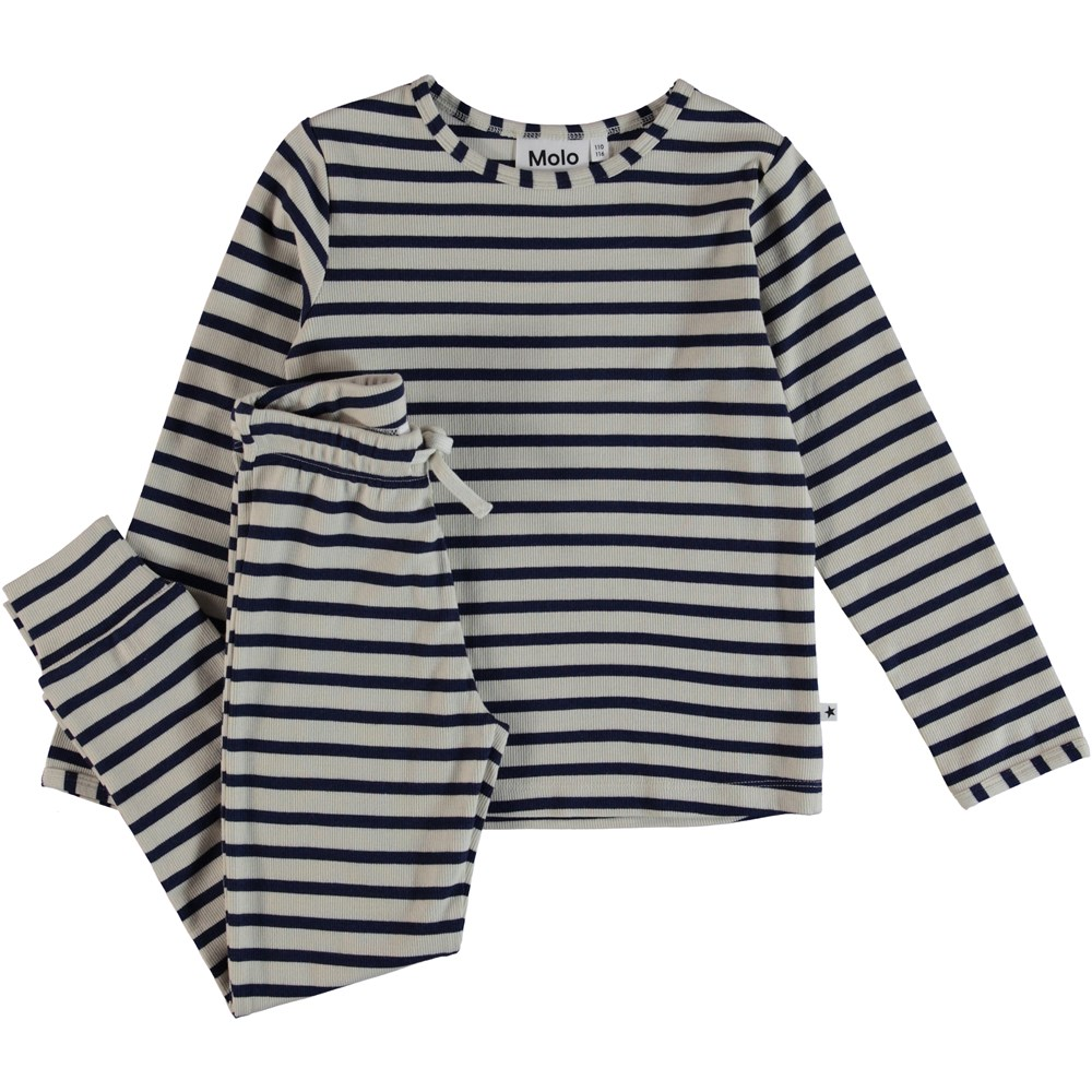 Luve - Sailor Blue Stripe - Nattøj