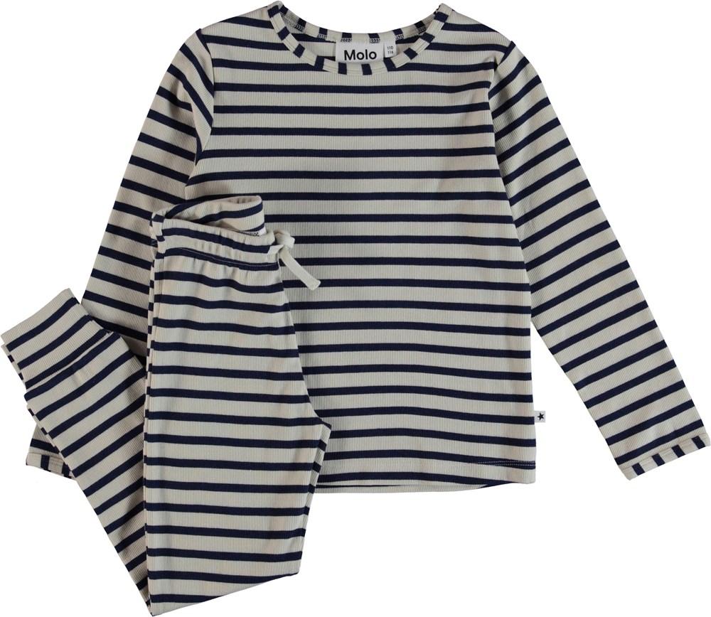Luve - Sailor Blue Stripe - Nattøj