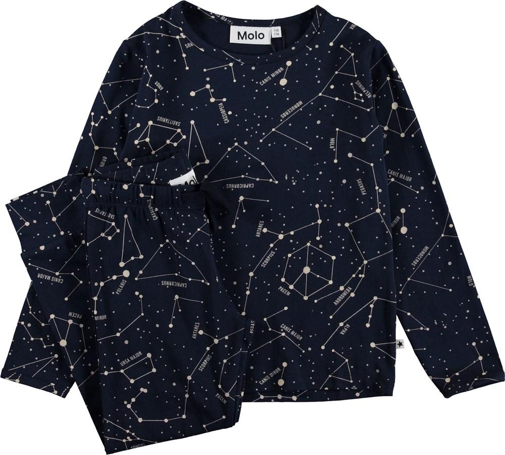 Luve - Star Map - Nattøj med stjerner.