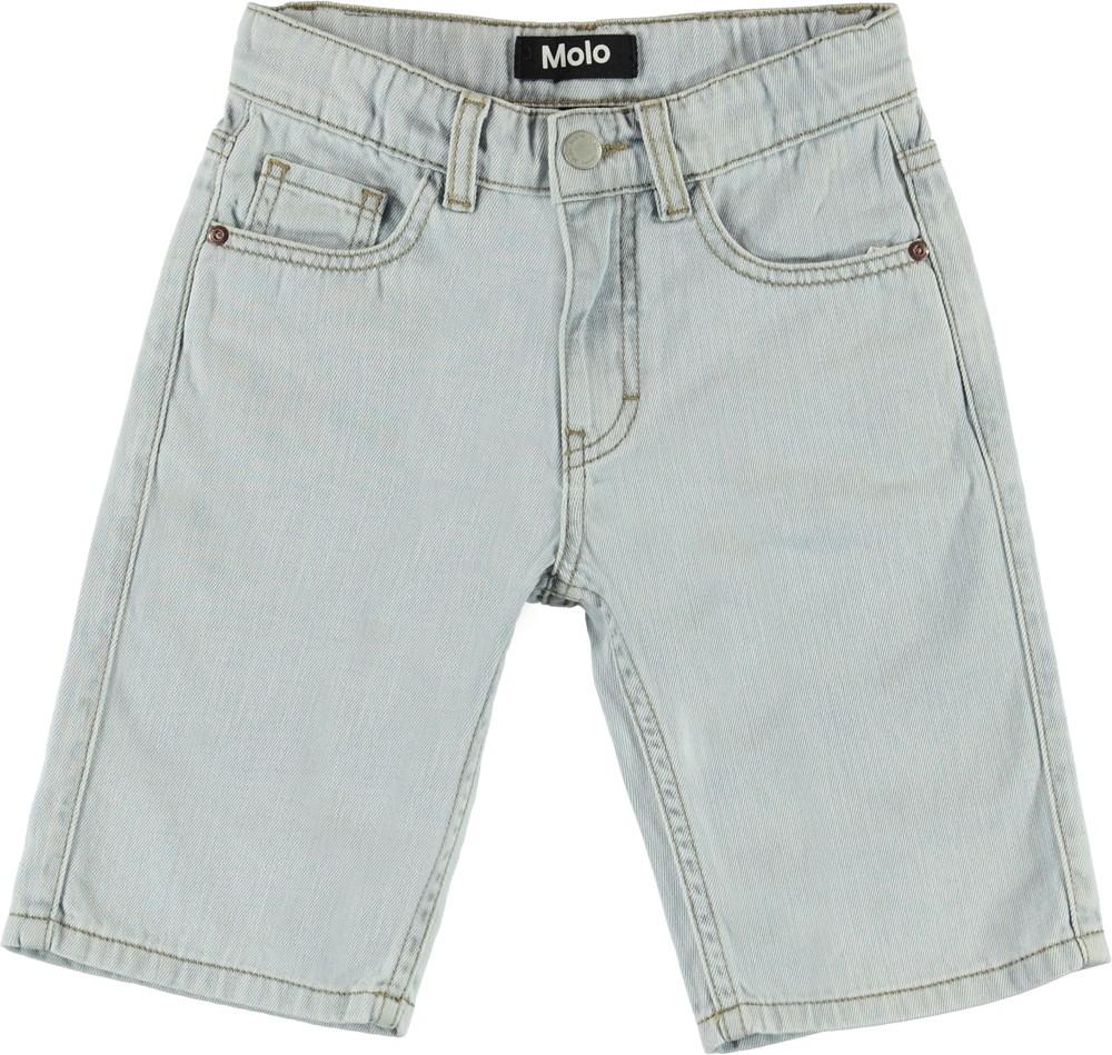 Adrik - Even Pale Wash - Lyse lange denim shorts