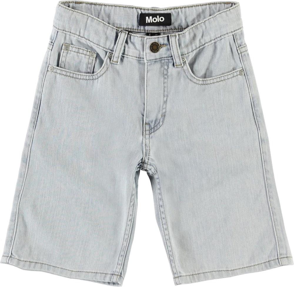 Adrik - Even Pale Wash - Lyse blå lange denim shorts
