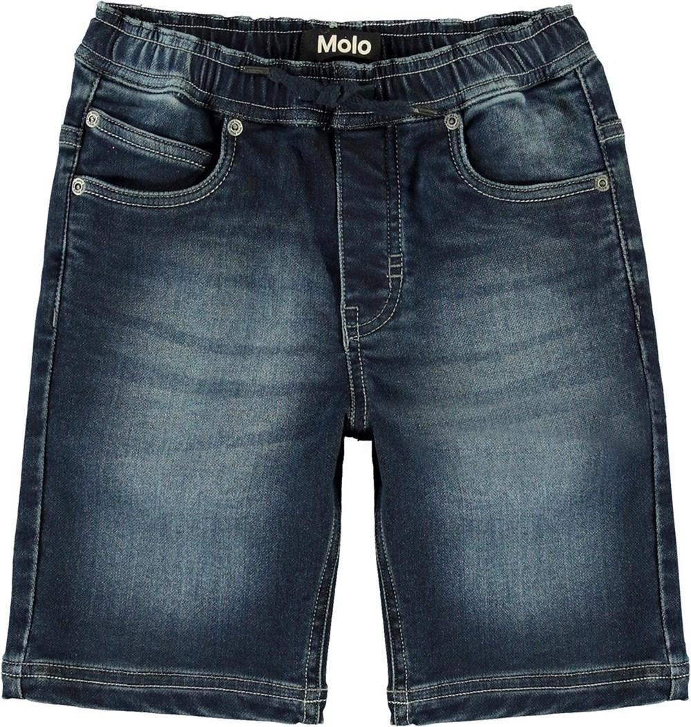 Ali - Dark Indigo - Afslappede denim shorts