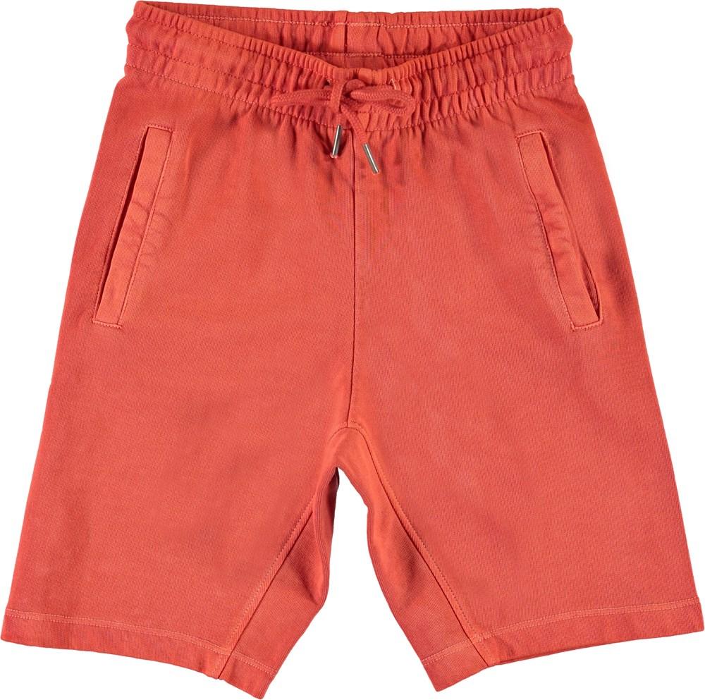Aliases - Burnt Sienna - Røde sweat shorts