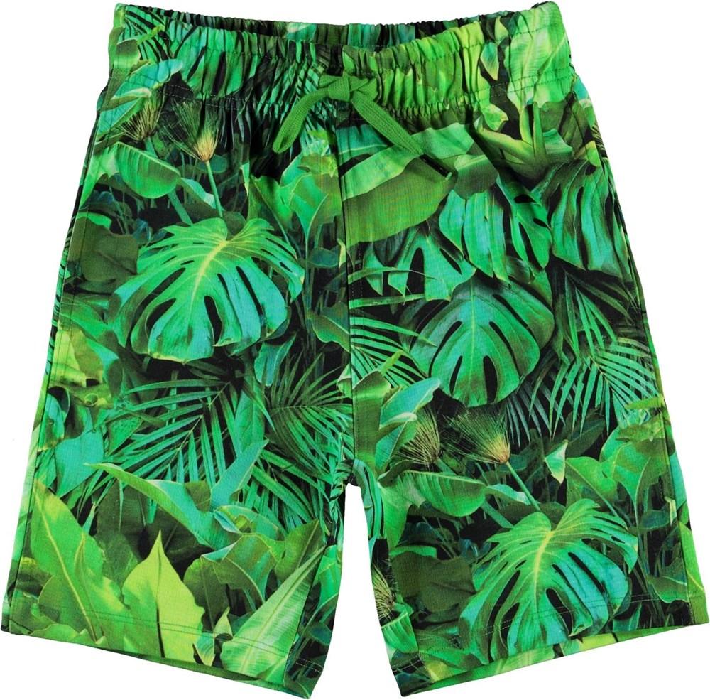Allwin - Jungle Leaves - Økologiske shorts med jungle blade